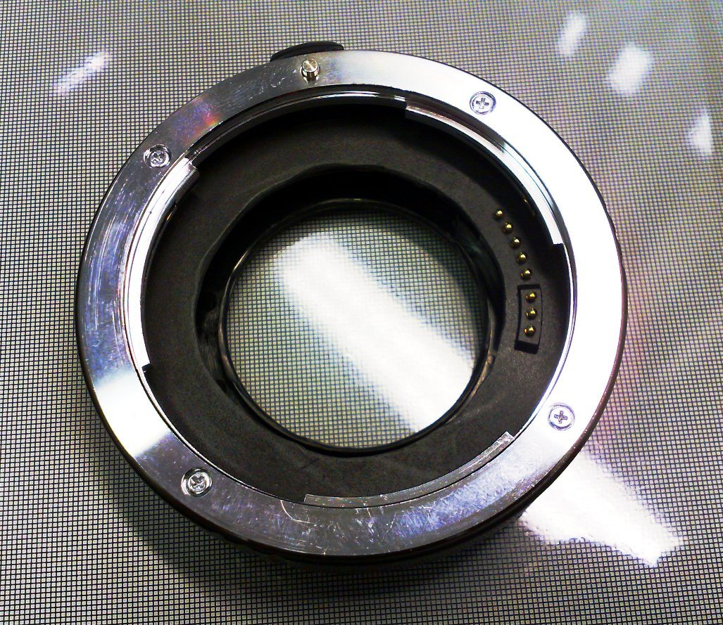 Kenko extension tube after modification.